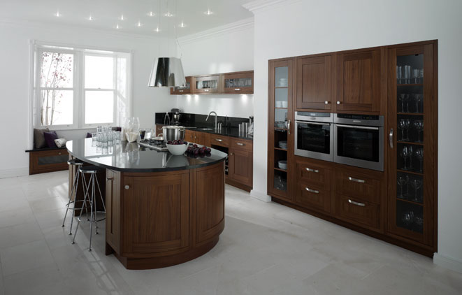 In frame kitchen focus milton walnut ultimate kitchens Ultimate kitchens